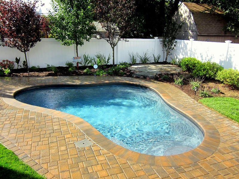 14 x 16 ft custom free form gunite pool green island design for 10 ft garden pool