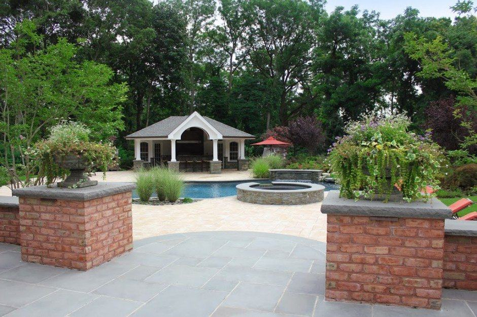 Free-Form-Custom-Gunite-Pool-with-Sheer-Descent-Waterfalls-and-Spill-Over-Gunite-Spa-Old-Westbury2