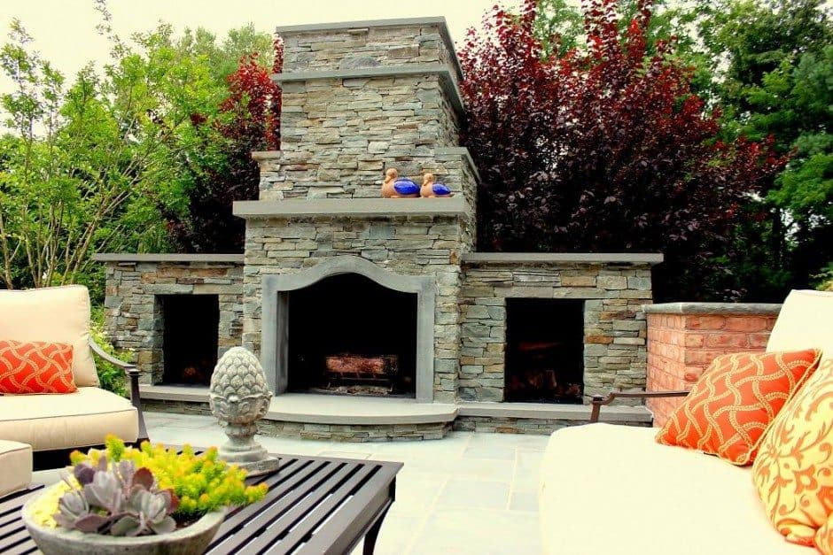 12-ft-Wood-Burning-Stacked-Bluestone-Fireplace-with-Bluestone-Accents-in-Old-Westbury-NY