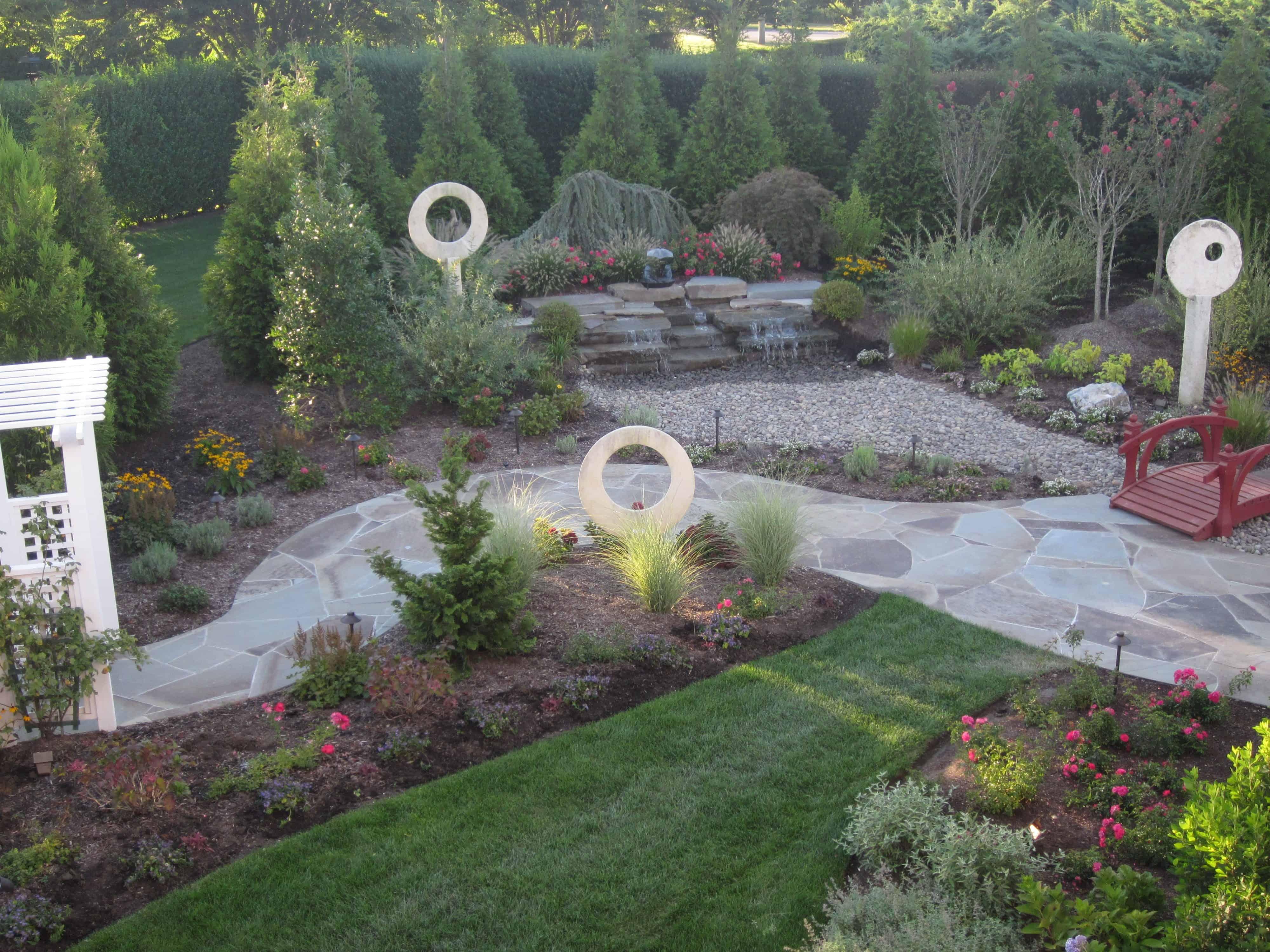 Landscape Plantings - Mixed Evergreens and Perennials - Southampton, Long Island NY