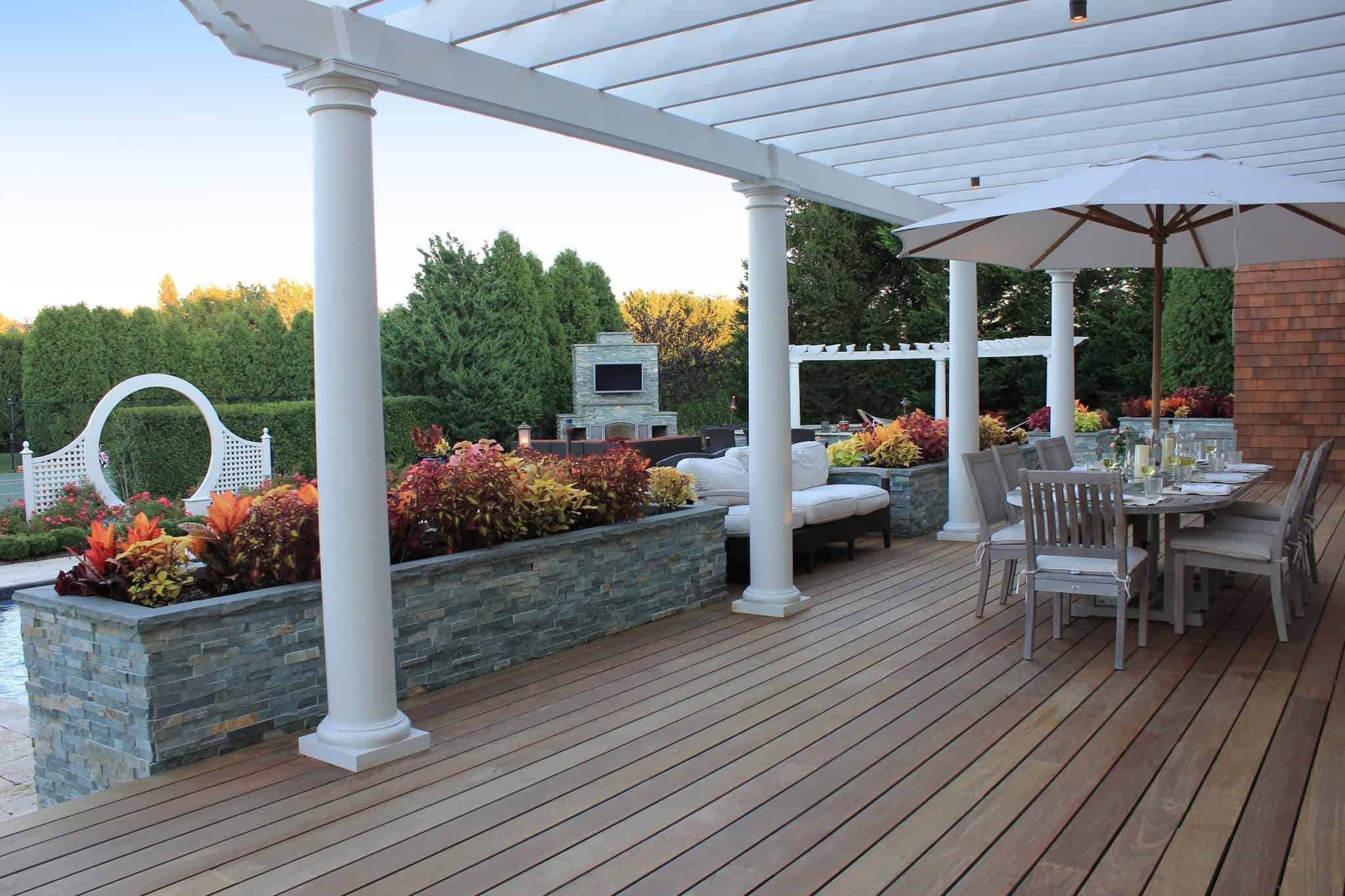 14' x 50' IPE deck with Trex risers - Southampton, Long Island NY