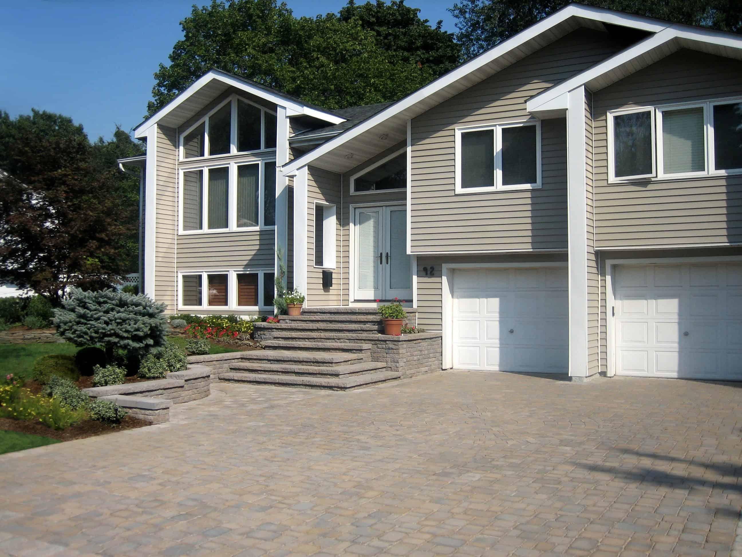 Cambridge Paver Driveway - Ledgestone - Toffee Onyx - Jericho, Long Island NY