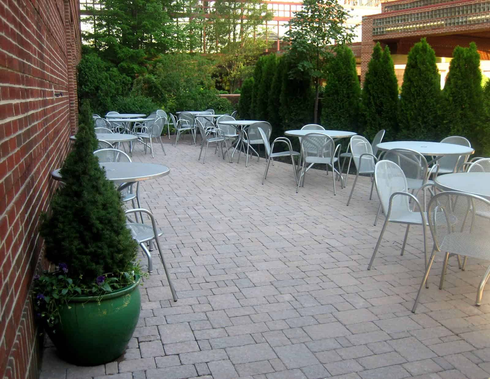 Paver Patio - Techo Bloc Paver Patio - Hera - Champlain Grey - Random Pattern - Crown Plaza Hotel, Long Island NY