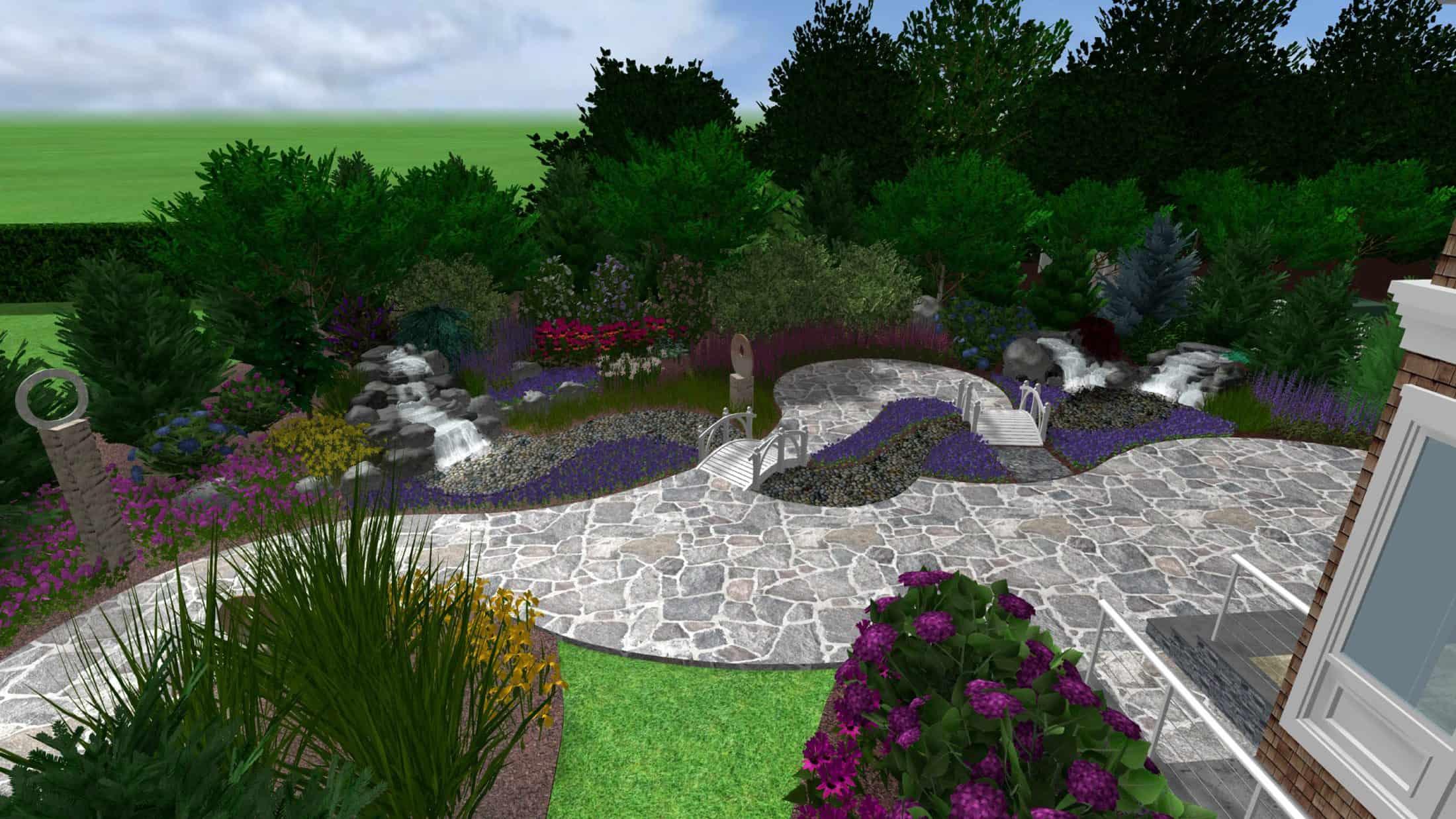 Landscape design process custom masonry long island for Island landscape design
