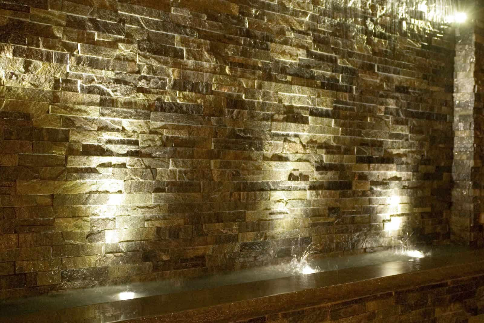 East West Stone - Sea Crystal - with Rockfaced Bluestone Cap - Hampton Inn, Long Island NY