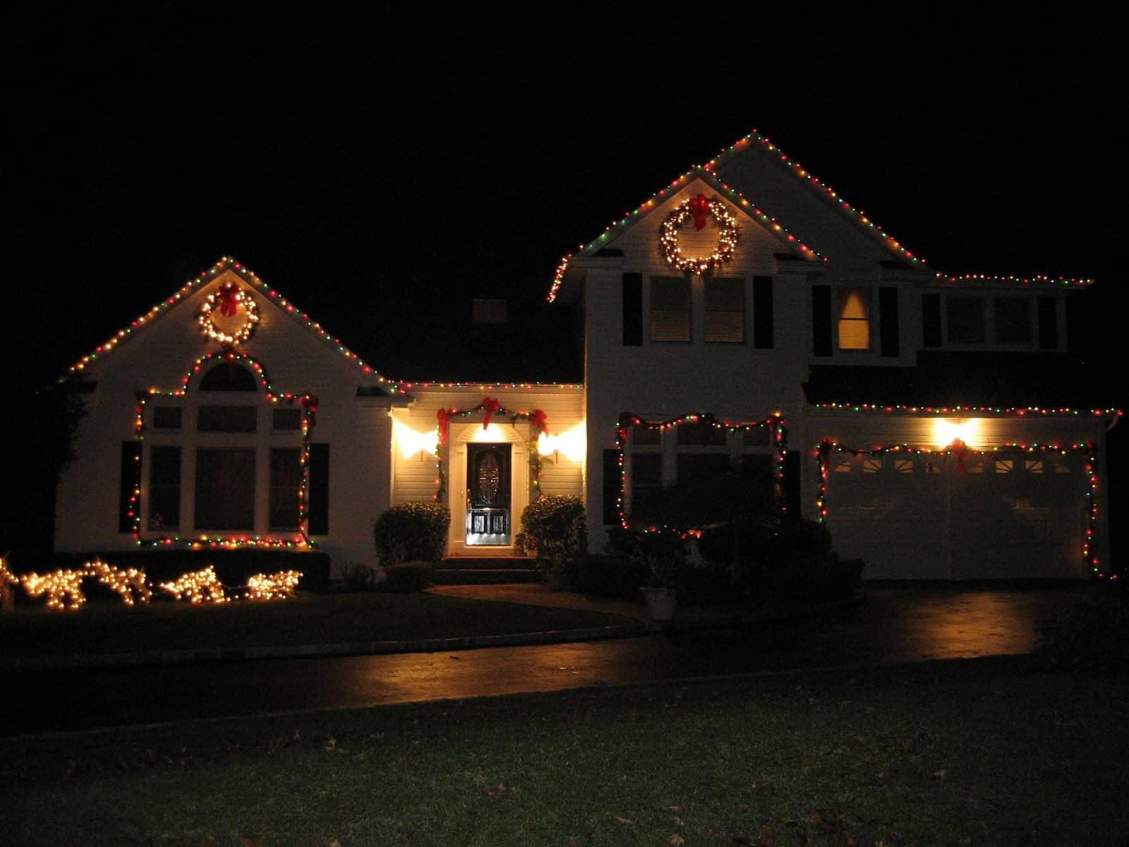 Holiday Lights Outdoors in Bridgehampton, Long Island NY