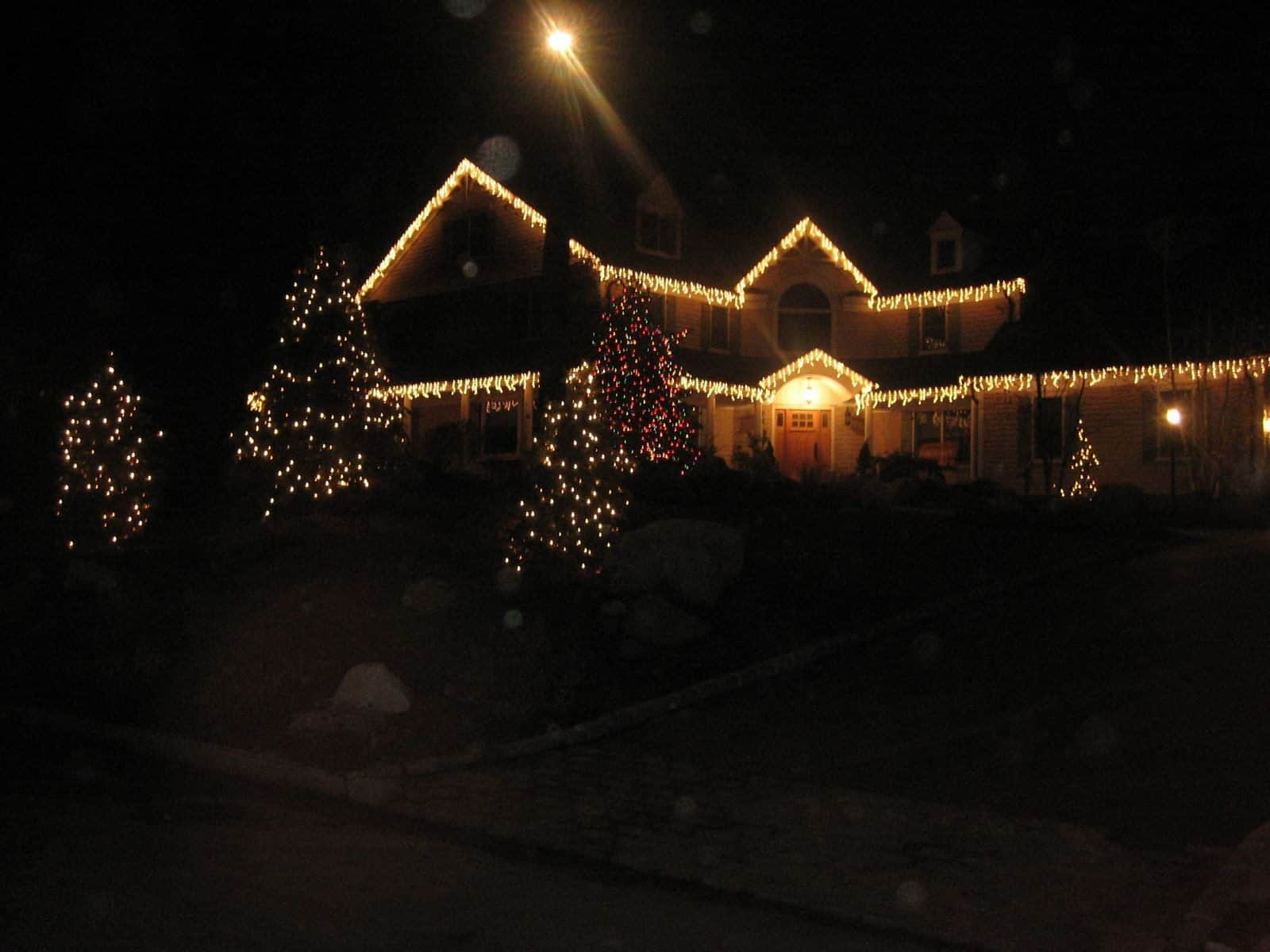 Front Lawn Holiday Decor in Easthampton, Long Island NY