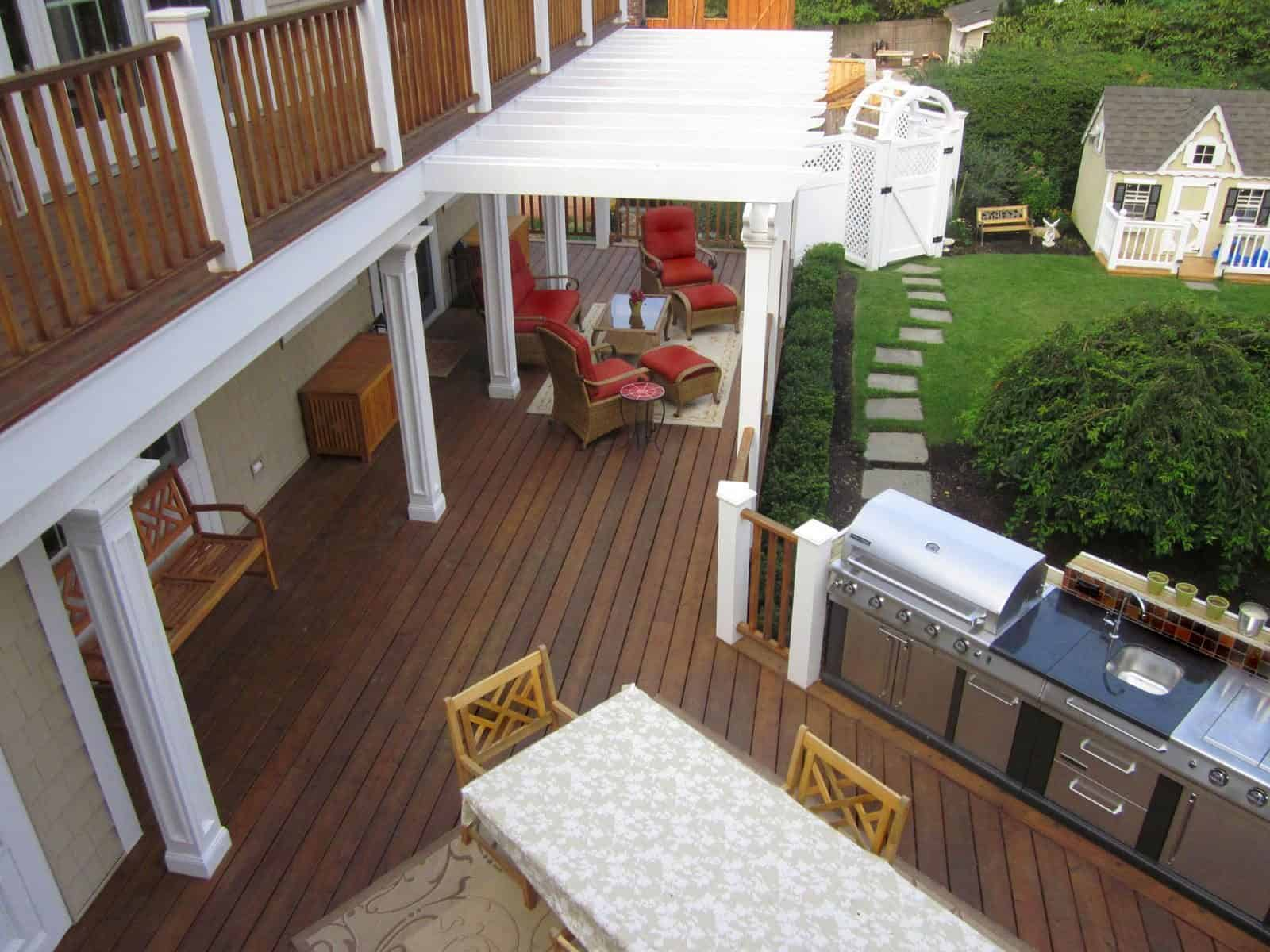 Bi Level Mahogney deck - Glen Cove, Long Island NY