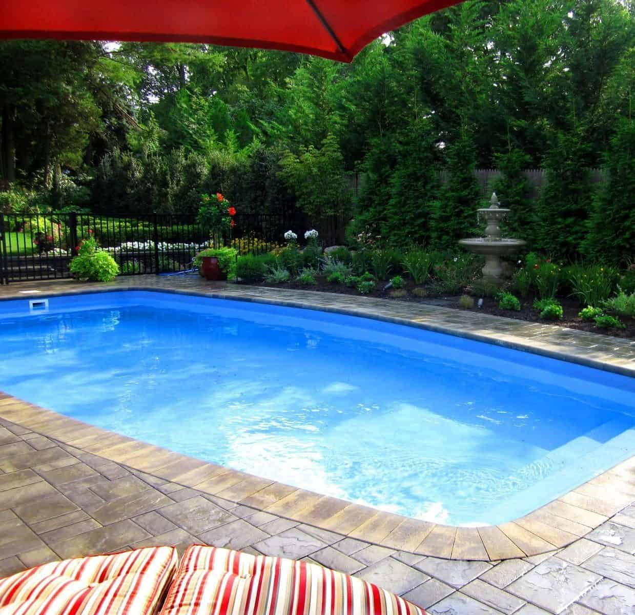 16' x 32' Fiberglass Pool with full length steps - Glen Cove, Long Island NY
