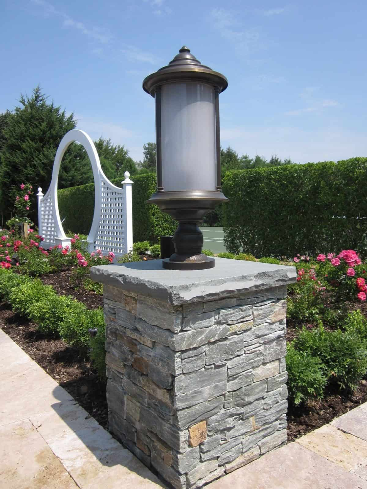 Cultured Stone Pillars : Custom masonry cultured natural stone veneers long island
