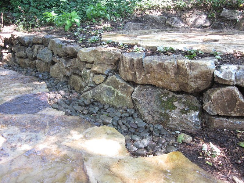 Natural Moss Rock Retaining Wall - Port Washington, Long Island NY