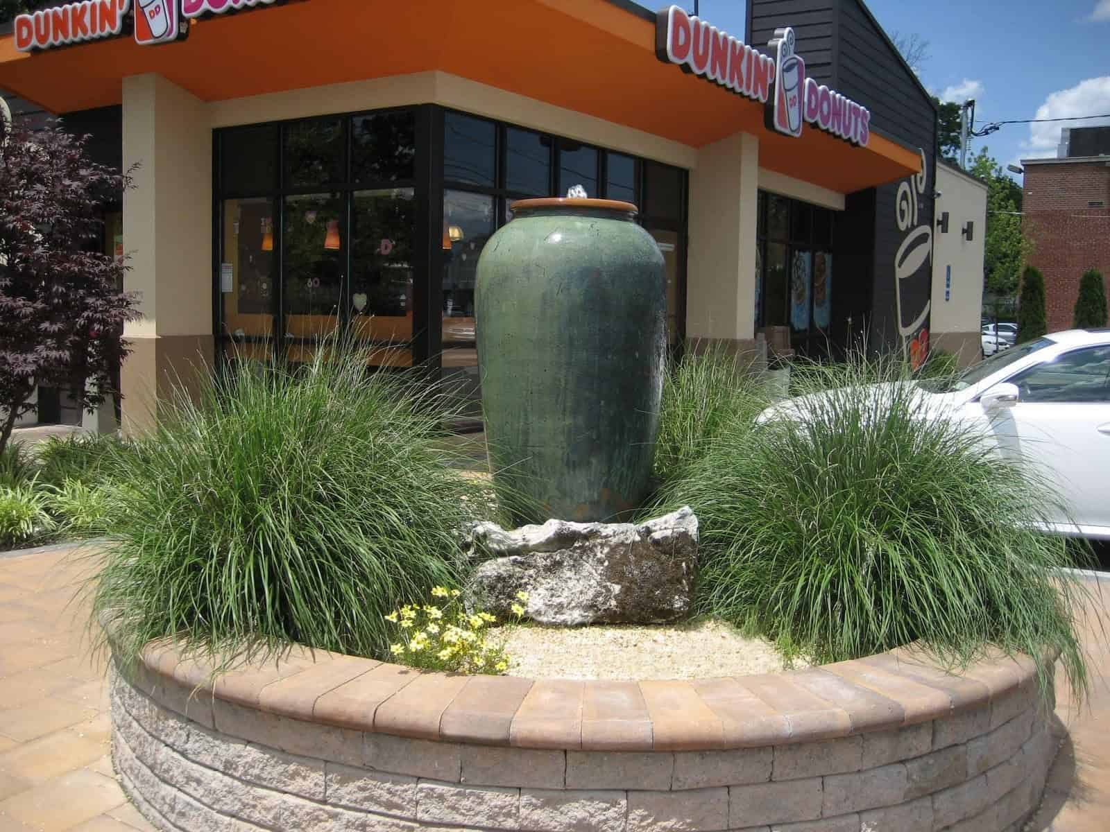 Self Contained Tuscany Vase fountain with Moss Rock base - Plainview, Long Island NY
