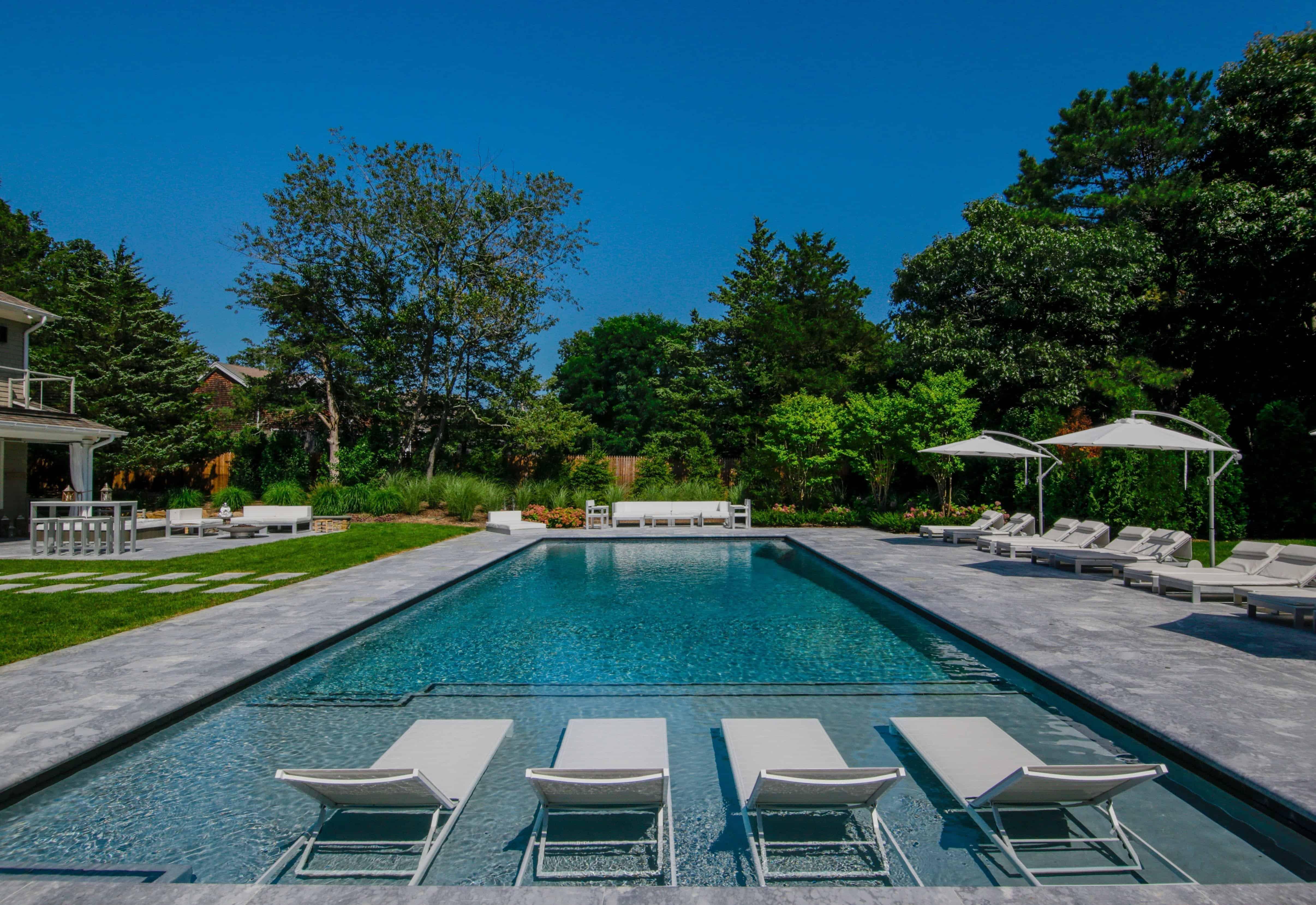 20' x 50' Gunite Pool with Sun Deck - Sag Harbor, Long Island NY
