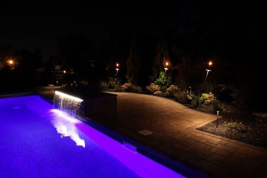 Paver Patio - Cambridge Ledgestone-Sahara Chestnut Pool Patio - Random Pattern - Dix Hills, Long Island NY