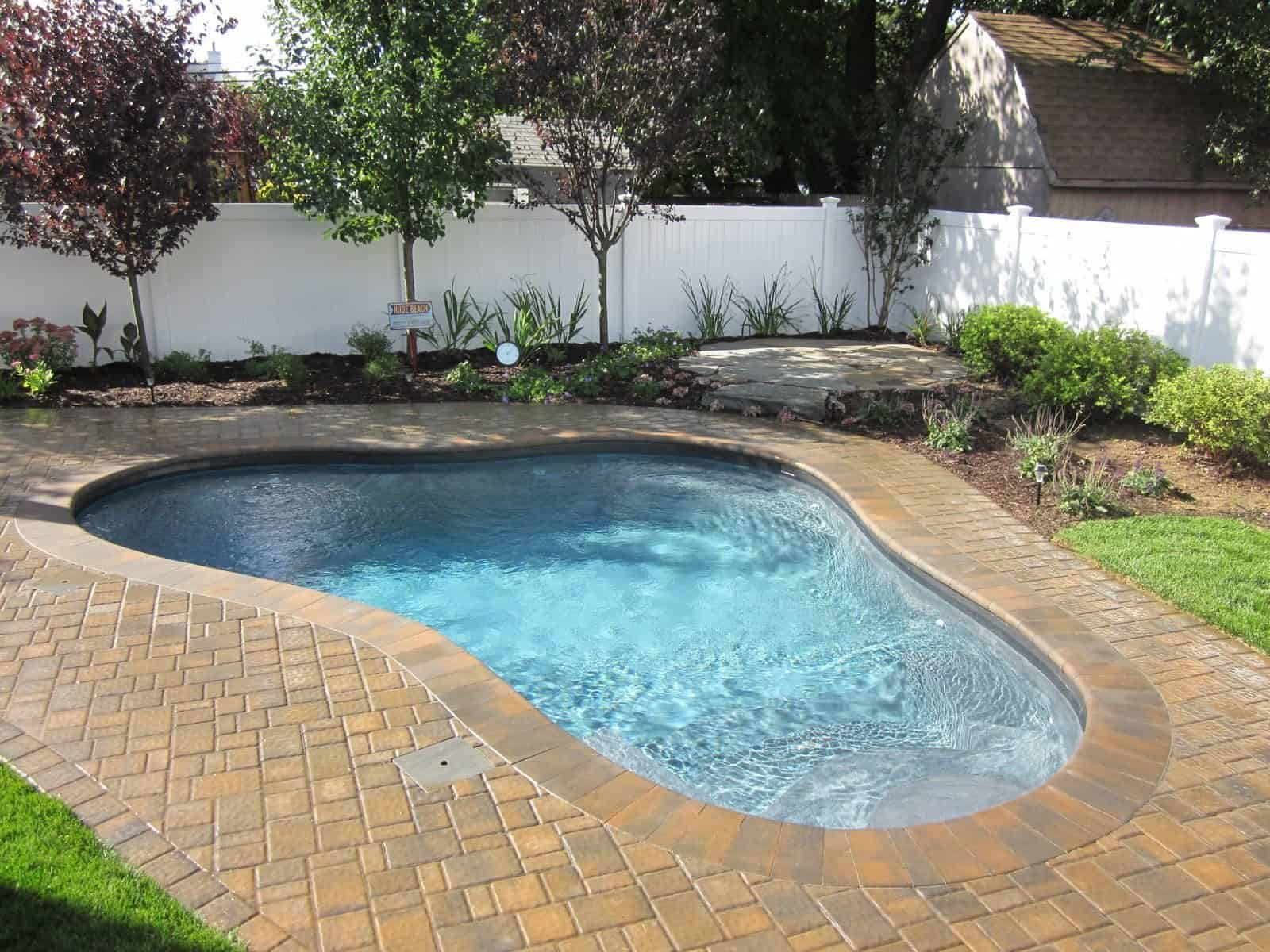 14' x 16' free form Gunite Pool with wedding cake steps and Spa jets - Islip Terrace, Long Island NY