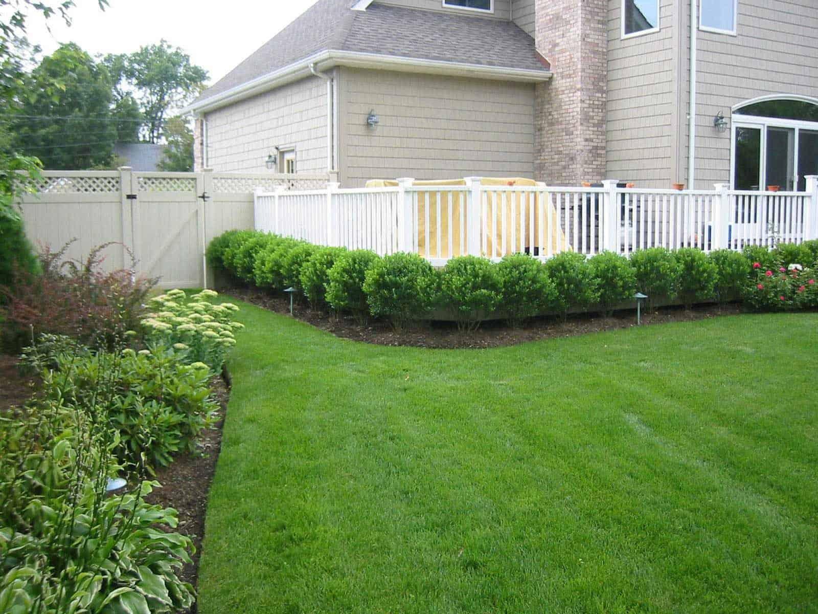 Landscape Plantings - Ilex Glabra Inkberry hedge - Babylon, Long Island NY