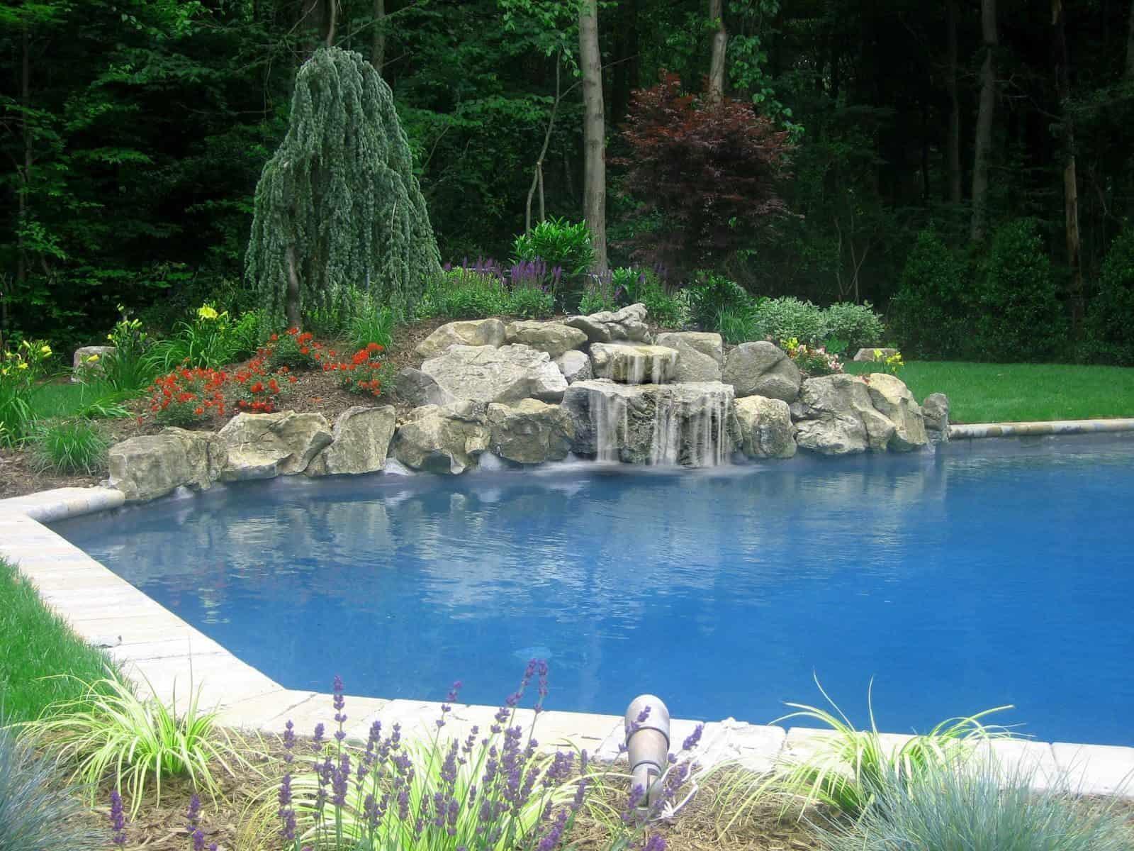 18' x 36' Elbow shaped Gunite Pool - Dix Hills, Long Island NY