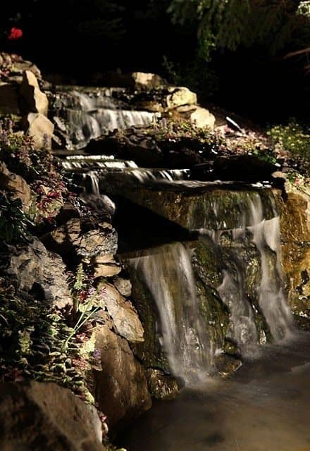 6' Moss Rock Pondless Waterfall - Oyster Bay Cove, Long Island NY