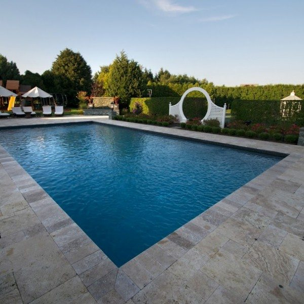 20′ x 40′ Gunite Pool with Black Slate Tile