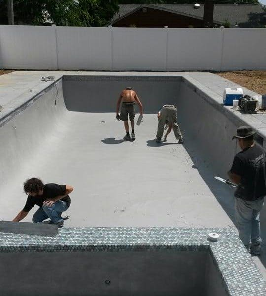 "Check-out these ""in-progress"" shots of a Green Island Design Signature custom Gunite swimming pool"