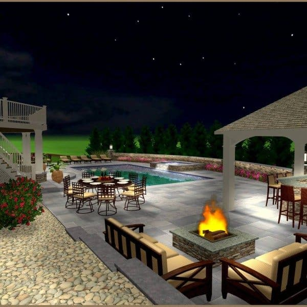 Design Renderings for Backyard Oasis