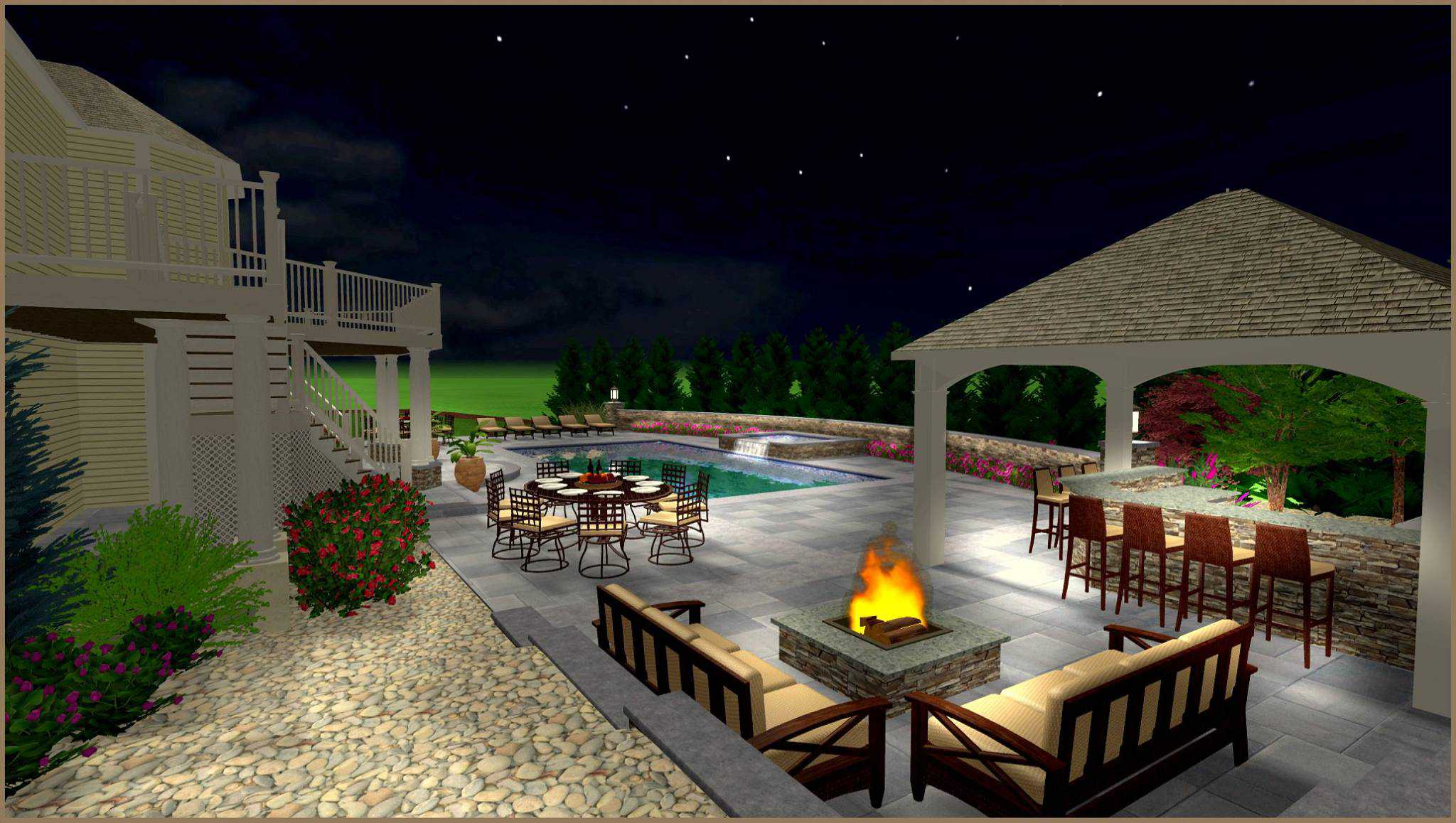 Design Renderings For Backyard Oasis