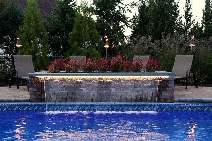 8 Ft Sheer Descent Waterfall With Led Remote Controlled