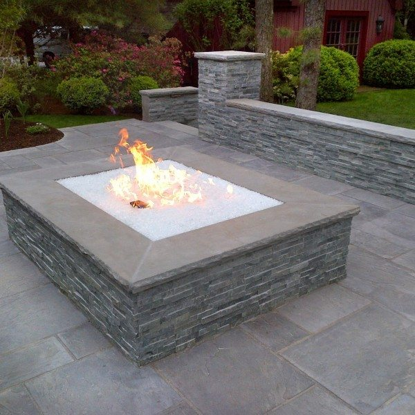 Over-Sized Gas Fire Pit With Fire Crystals