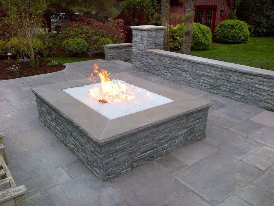 Categories: Blog, Fire FeaturesTags: Custom Fire Pits, East Hampton, Fire  Crystals, Gas Fire Pit, Hamptons, Landscape Designer Long Island. - Over-Sized Gas Fire Pit With Fire Crystals