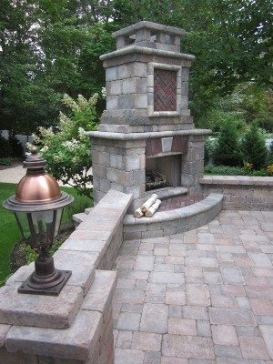 Outdoor Fireplace Design and Build Long Island