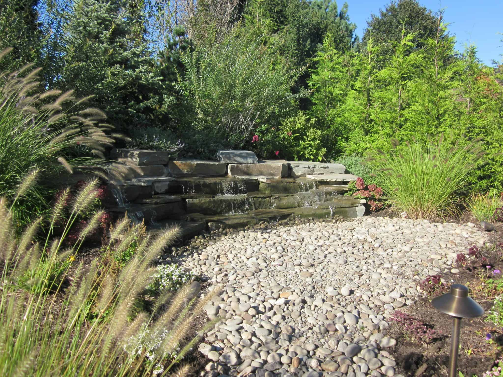 10' Bluestone Slab Pondless Waterfall - Southampton, Long Island NY