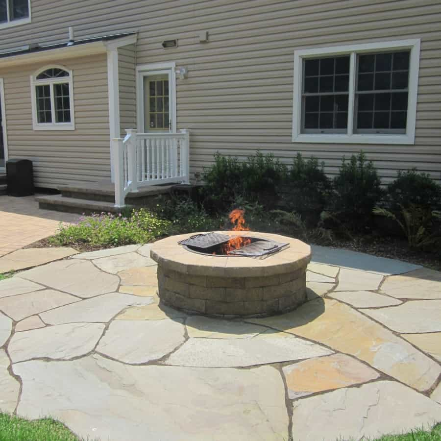 Cambridge Fire Pit with Grill Cover - Dix Hills, Long Island NY