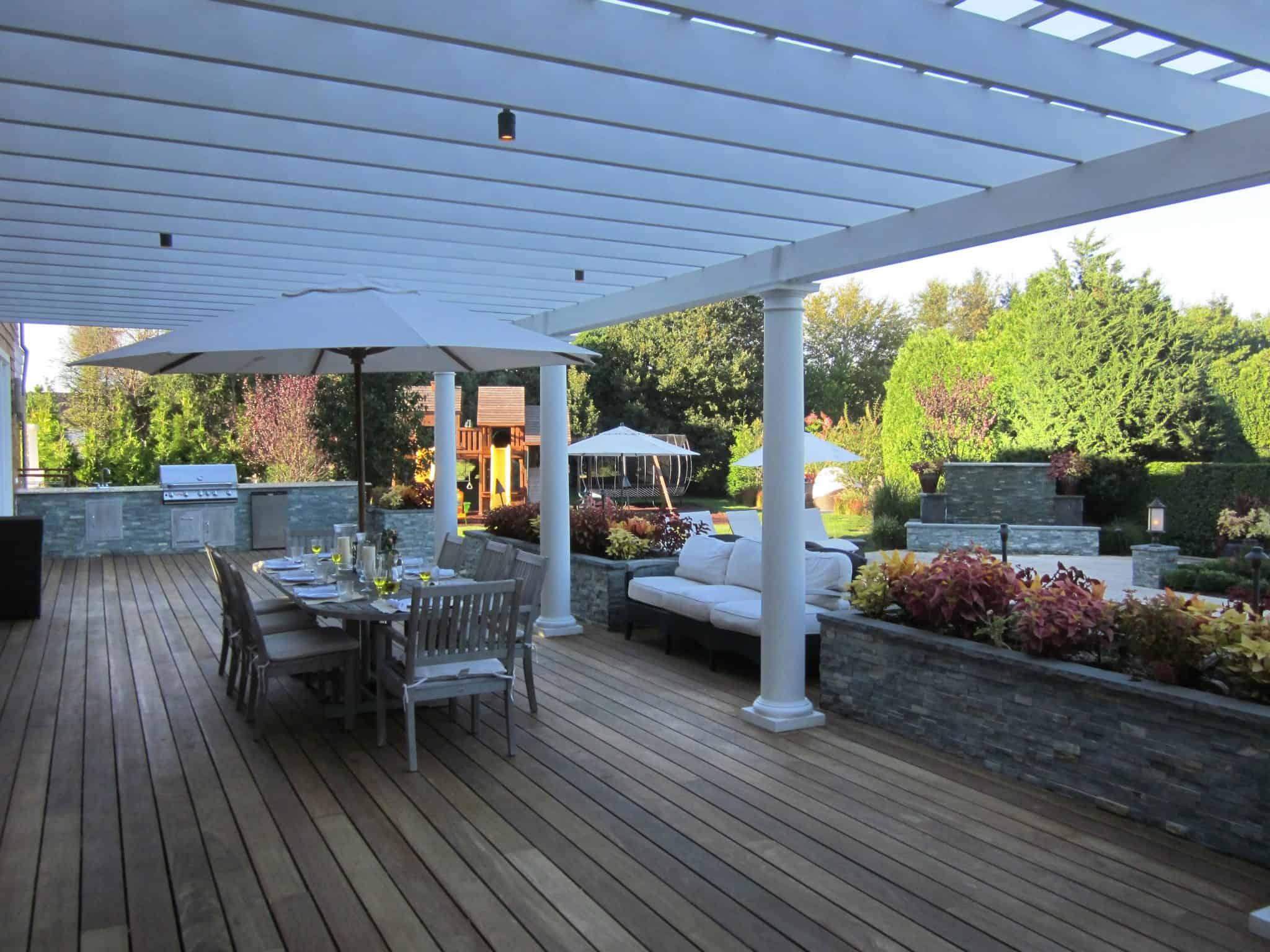 14' x 50' IPE deck with Trex risers - Southampton, Long Island NY