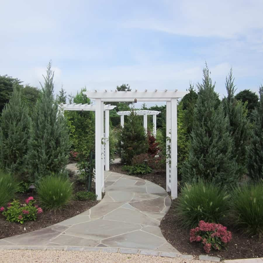 Landscape Plantings - Foreground - Mixed Perennials - Background - Mixed Evergreens - Southampton, Long Island NY