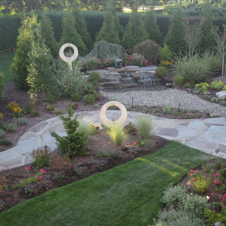 Landscape Plantings - Mixed Evergreens and Perennials - Southampton, Long Island NY