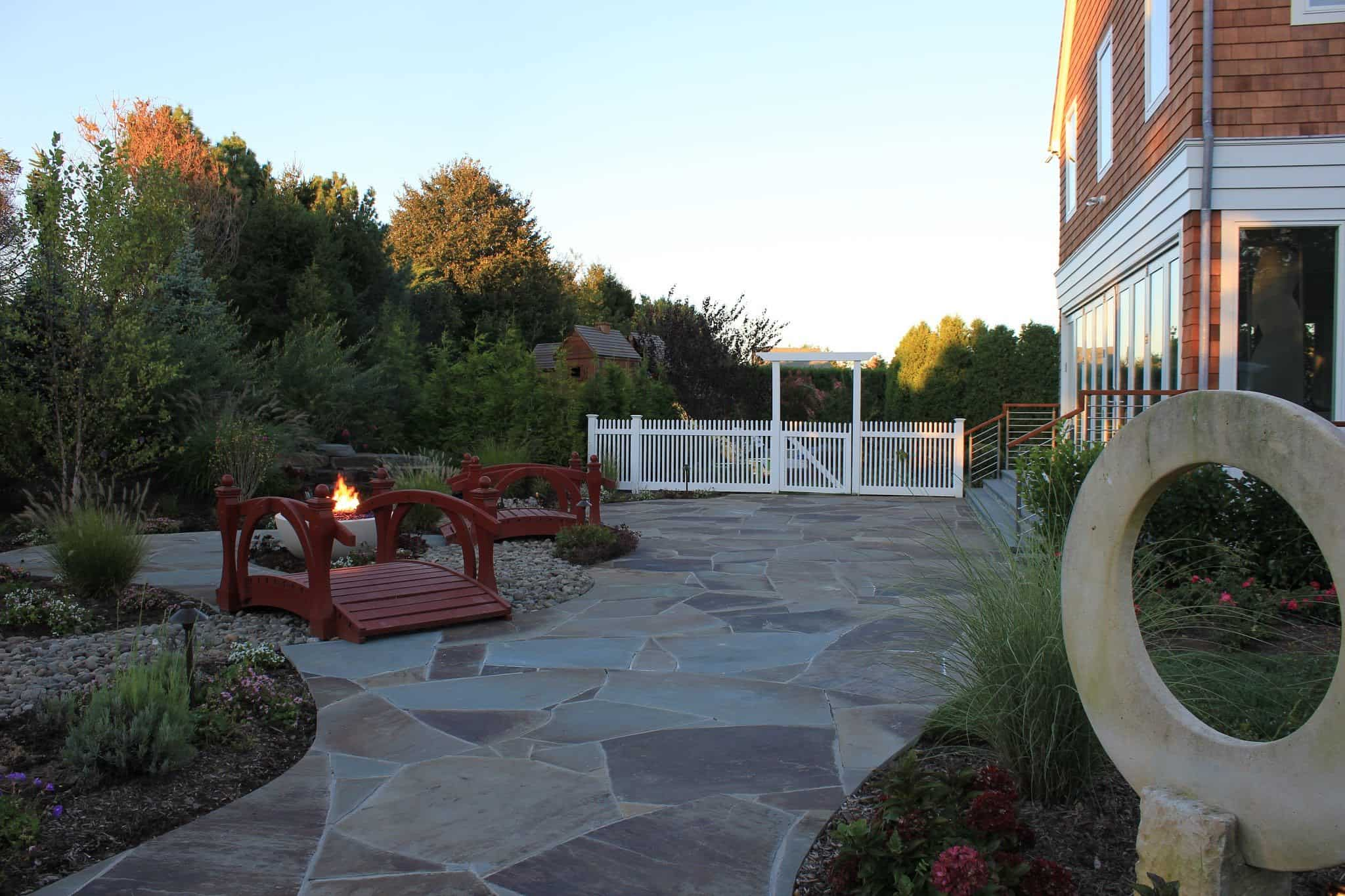 Irregular NYS Bluestone Patio - Southampton, Long Island NY