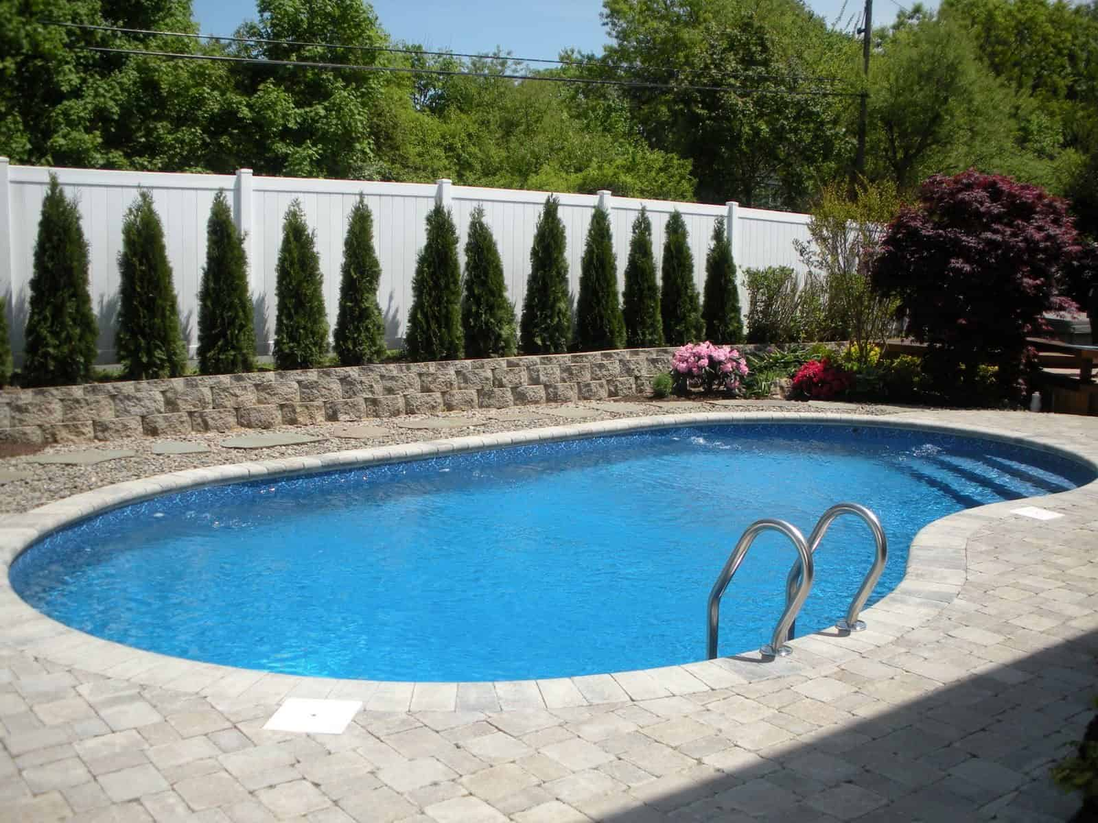 16' x 32' free form Vinyl Liner Pool - Melville, Long Island NY