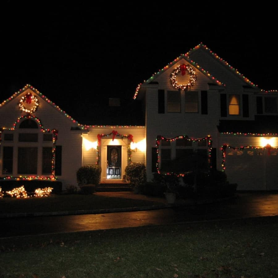 Holiday Lights Outdoors in Bridgehampton, Long Island NY