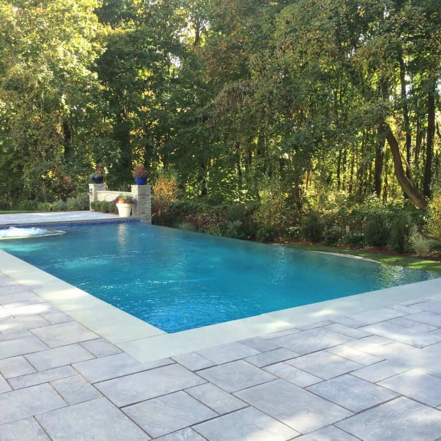 Paver Pool Patio - Cambridge Cast Stone Slab - Bluestone - Manhasset, Long Island NY