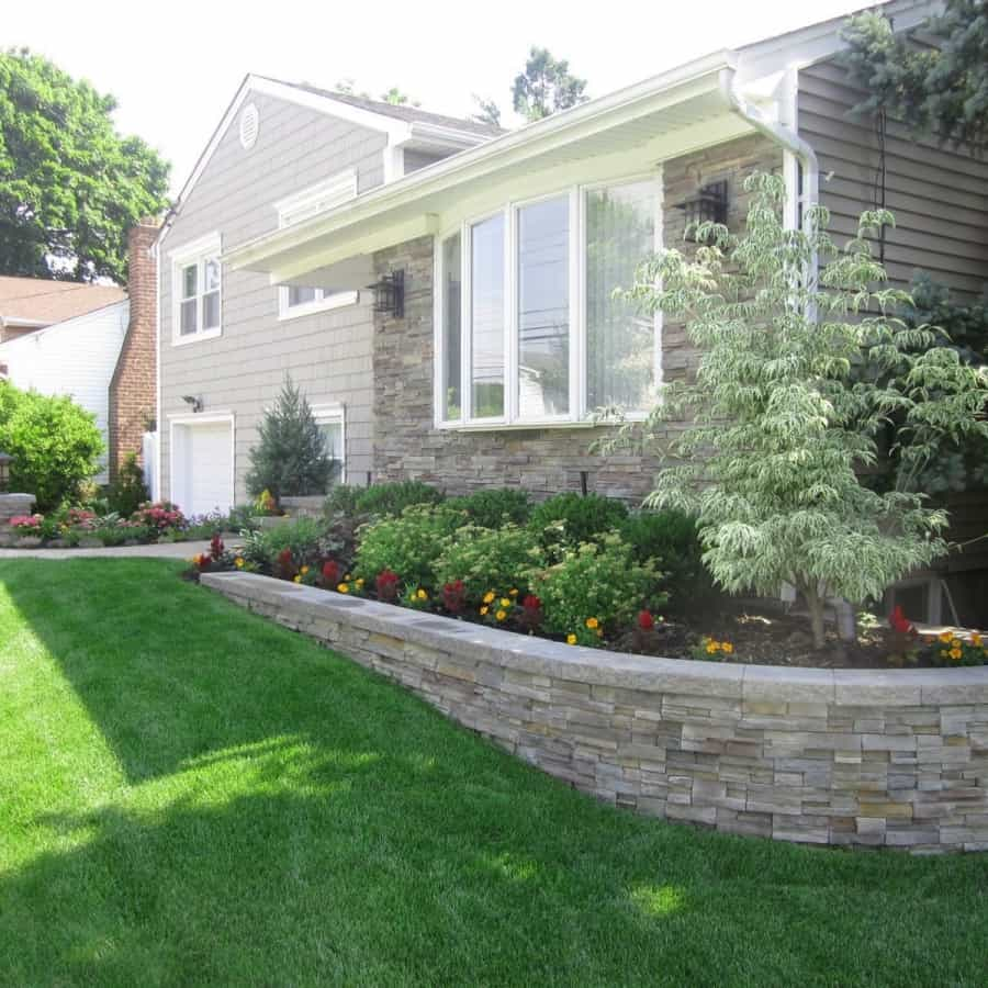 Landscape Plantings - Dogwood Wolf Eyes, Spirea Anthony Waterer, and Ilex Compacta - Massapequa, Long Island NY