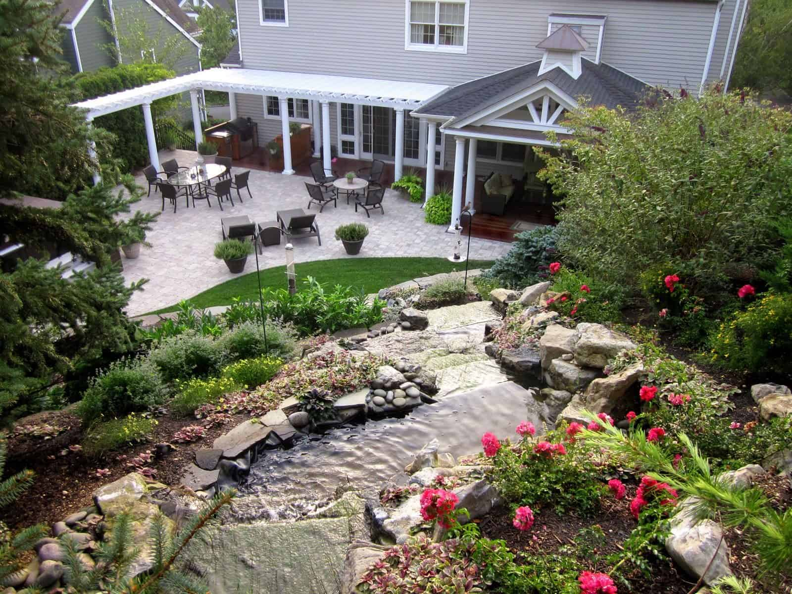18' Moss Rock Pondless Waterfall - Roslyn, Long Island NY