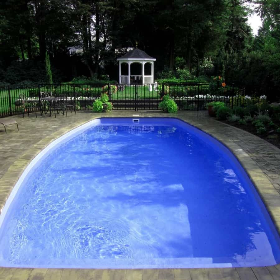 16' x 32' Fiberglass Pool with full length steps - Glen Cove, Long Island NY