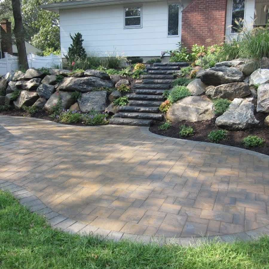 Landscape Plantings - Mixture of perennials and creeping evergreens - Smithtown, Long Island NY