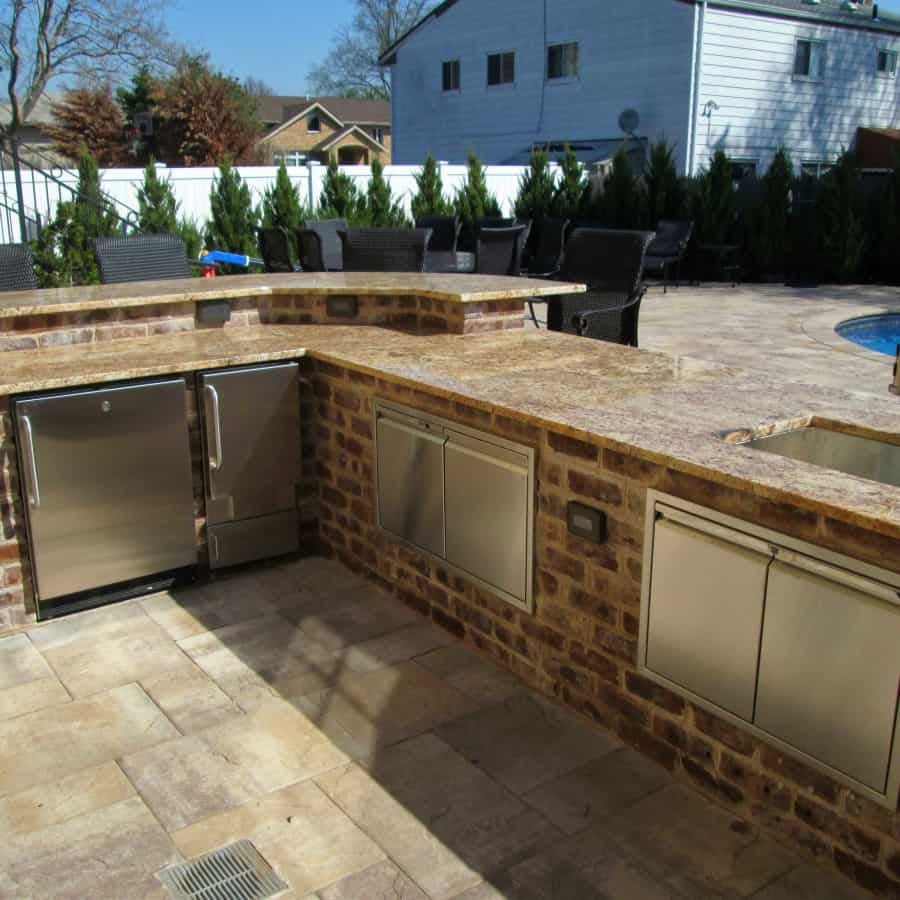 Bi-Level Outdoor Kitchen and Bar - Merrick, Long Island NY