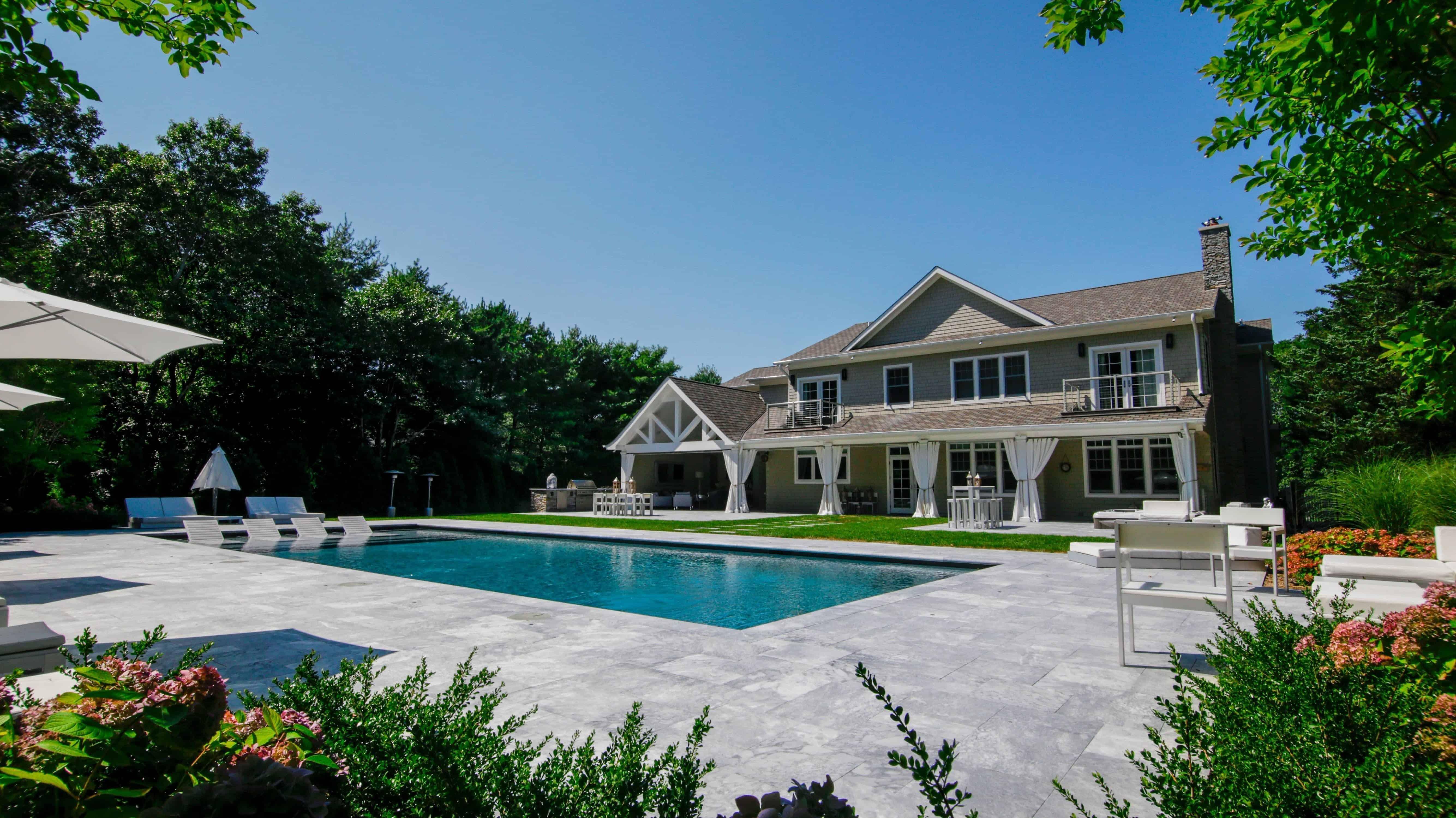 20' x 50' Gunite Pool with Sun Deck and Jandy Laminar Jets - Sag Harbor, Long Island NY