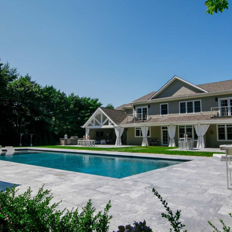 20' x 50' Gunite Pool with Sun Deck and Jandy Laminar Jets - Sag Harbor, Long Island NY