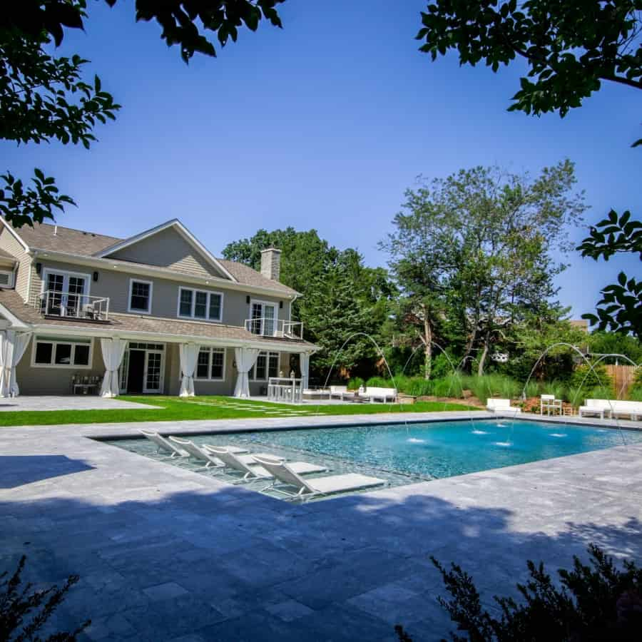 Marble Pool Patio - Marmiro Stone Deep Blue - Sag Harbor, Long Island NY