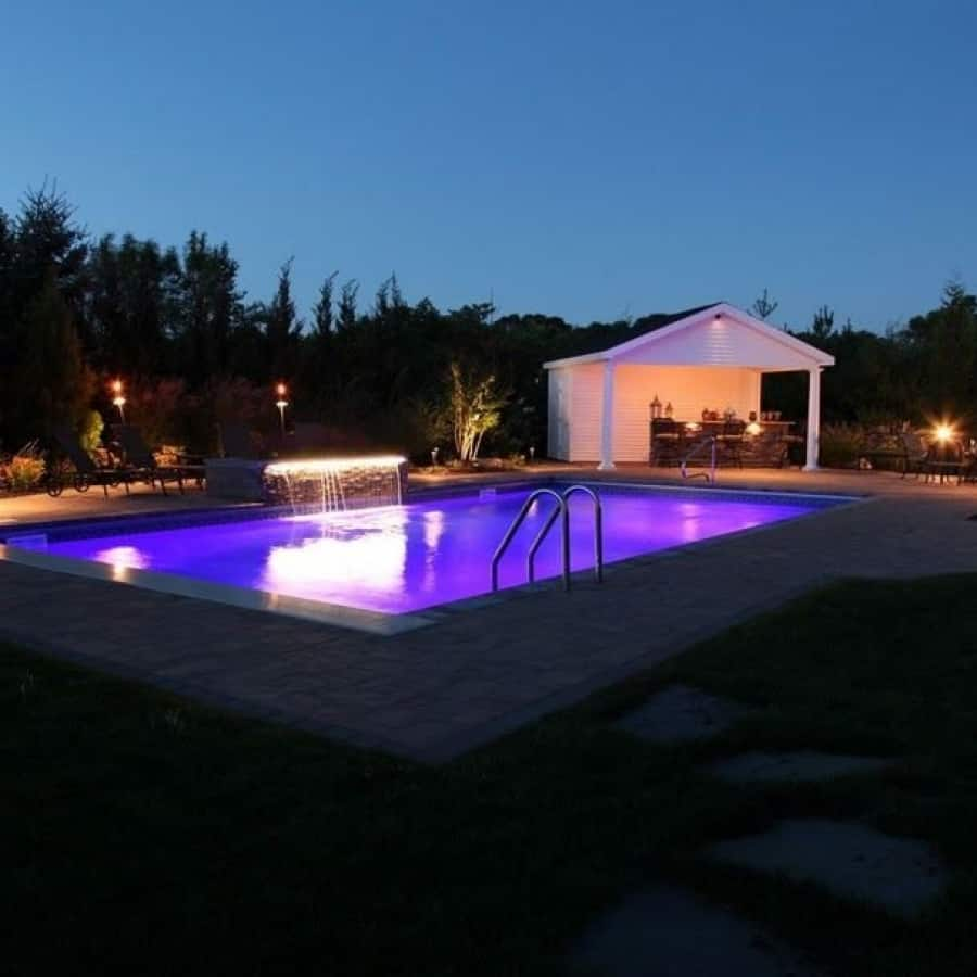18' x 42' Pool with full length steps and LED color light - Dix Hills, Long Island NY