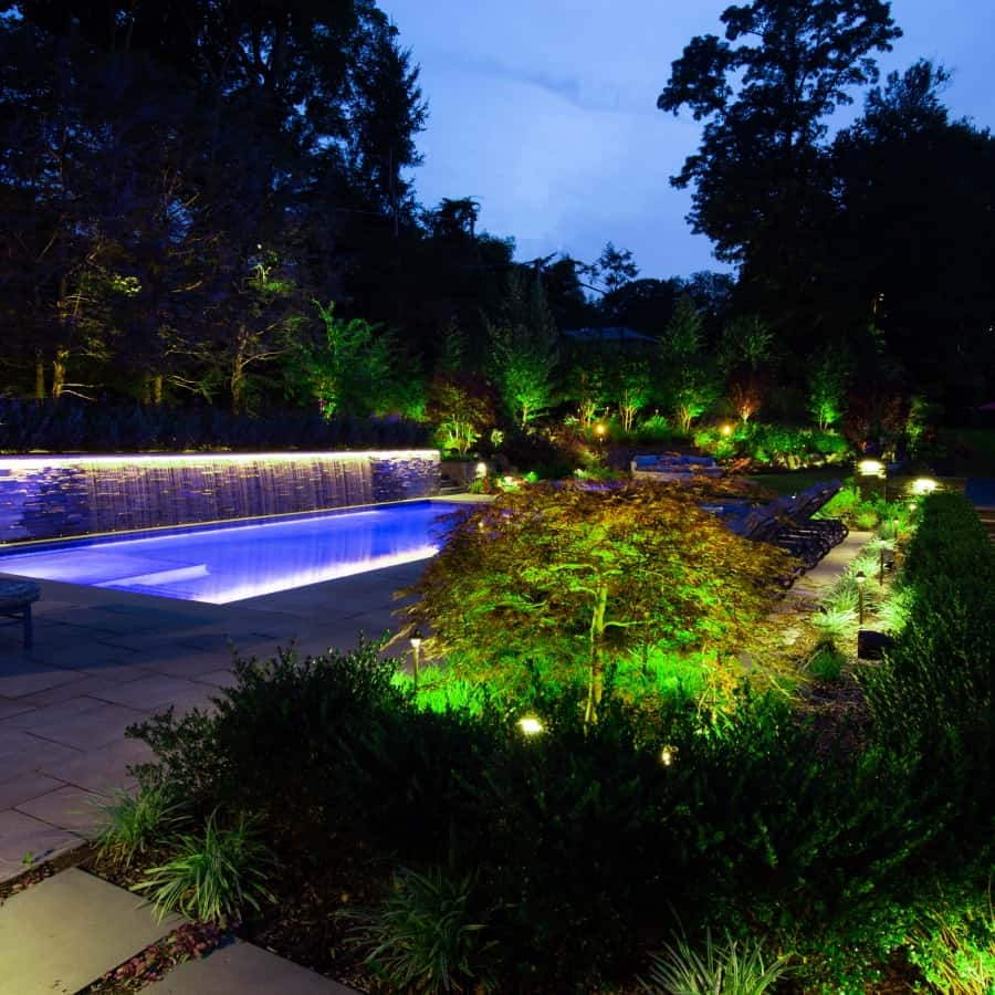 Landscape Plantings and Lighting – Sands Point, Long Island NY