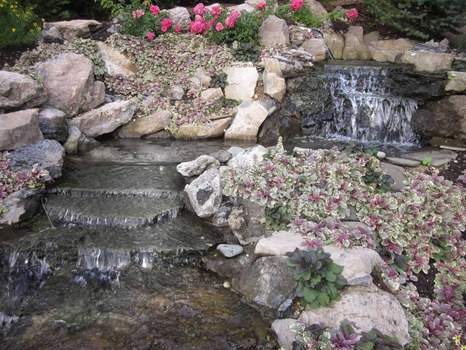 8' Moss Rock Pondless Waterfall - Roslyn, Long Island NY